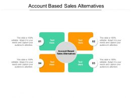 Account Based Sales Alternatives Ppt Powerpoint Presentation Visual Aids Pictures Cpb