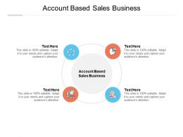 Account Based Sales Business Ppt Powerpoint Presentation Layouts Aids Cpb