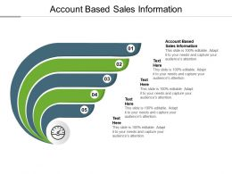 Account Based Sales Information Ppt Powerpoint Presentation Model Display Cpb