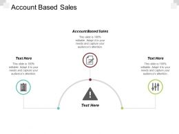 Account Based Sales Ppt Powerpoint Presentation Diagram Graph Charts Cpb