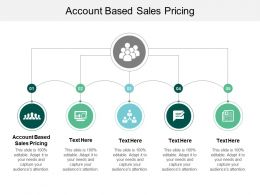 Account Based Sales Pricing Ppt Powerpoint Presentation Infographics Samples Cpb