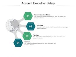 Account Executive Salary Ppt Powerpoint Presentation Outline Gallery Cpb