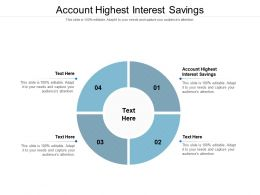 Account Highest Interest Savings Ppt Powerpoint Presentation Gallery Files Cpb