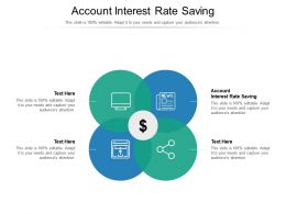 Account Interest Rate Saving Ppt Powerpoint Presentation Inspiration Topics Cpb