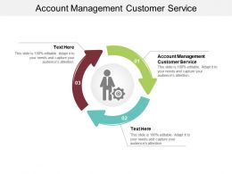 Account Management Customer Service Ppt Powerpoint Presentation Styles Brochure Cpb
