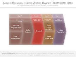 Account Management Sales Strategy Diagram Presentation Ideas