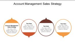 Account Management Sales Strategy Ppt Powerpoint Presentation Pictures Master Slide Cpb