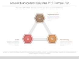 Account Management Solutions Ppt Example File