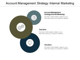 Account Management Strategy Internal Marketing Ppt Powerpoint Presentation Slides Infographic Template Cpb