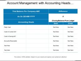 Account Management With Accounting Heads Difference Closing Balance From Ledger