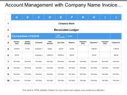 Account Management With Company Name Invoice Data Total Amount
