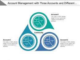 Account Management With Three Accounts And Different Projects