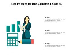 Account Manager Icon Calculating Sales ROI