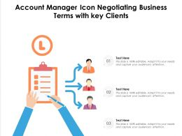 Account Manager Icon Negotiating Business Terms With Key Clients