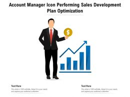 Account Manager Icon Performing Sales Development Plan Optimization