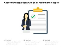 Account Manager Icon With Sales Performance Report