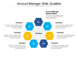 Account Manager Skills Qualities Ppt Powerpoint Presentation Styles Show Cpb
