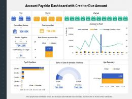 Account Payable Dashboard With Creditor Due Amount