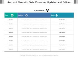 Account Plan With Date Customer Updates And Editors