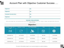 Account Plan With Objective Customer Success Activities Tasks And Status
