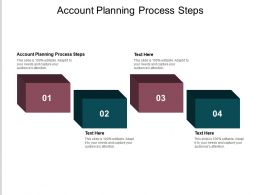 Account Planning Process Steps Ppt Powerpoint Presentation Styles Smartart Cpb