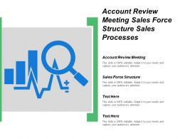 Account Review Meeting Sales Force Structure Sales Processes