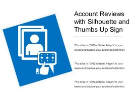 Account Reviews With Silhouette And Thumbs Up Sign