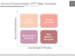 Account Segmentation Ppt Slide Template