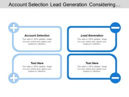 Account Selection Lead Generation Considering Corporate Level Strategies