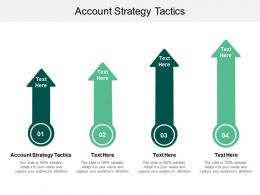 Account Strategy Tactics Ppt Powerpoint Presentation Styles Model Cpb