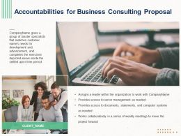 Accountabilities For Business Consulting Proposal Ppt Powerpoint Portfolio