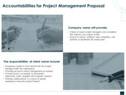 Accountabilities For Project Management Proposal Ppt Powerpoint Slides