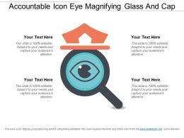 Accountable Icon Eye Magnifying Glass And Cap