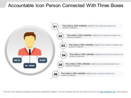 Accountable Icon Person Connected With Three Boxes