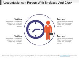 Accountable Icon Person With Briefcase And Clock