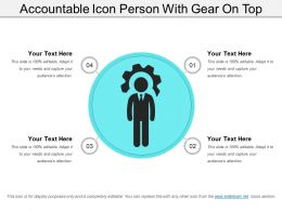 Accountable Icon Person With Gear On Top