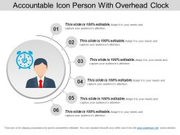Accountable Icon Person With Overhead Clock