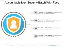 Accountable Icon Security Batch With Face
