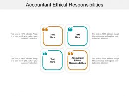 Accountant Ethical Responsibilities Ppt Powerpoint Presentation Gallery Summary Cpb
