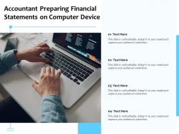 Accountant Preparing Financial Statements On Computer Device