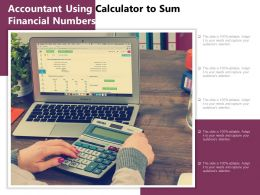 Accountant Using Calculator To Sum Financial Numbers