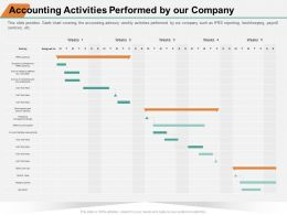 Accounting Activities Performed By Our Company Reporting Ppt Powerpoint Presentation Icon Visuals