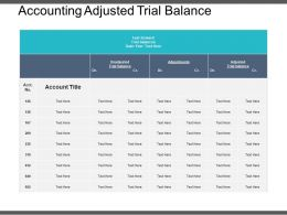 Accounting Adjusted Trial Balance Example Of Ppt