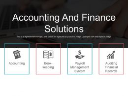 Accounting And Finance Solutions Example Of Ppt