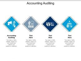 Accounting Auditing Ppt Powerpoint Presentation Pictures Templates Cpb