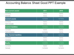 Accounting Balance Sheet Good Ppt Example