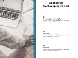 Accounting Bookkeeping Payroll Ppt Powerpoint Presentation Slides Professional Cpb