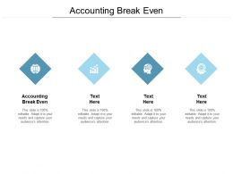 Accounting Break Even Ppt Powerpoint Presentation Styles Portfolio Cpb
