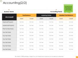 Accounting Business Controlling Ppt Graphics