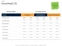 Accounting Business Strategic Planning Ppt Icons
